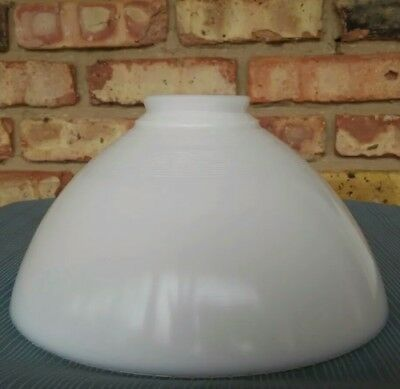 "VINTAGE/OLD MILK GLASS SHADE TORCHIERE 2 7/8"" FITTER "" Beaded Trim Rim """
