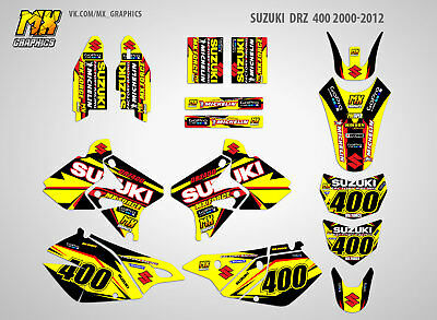 MX Graphics Stickers Kit Decals Suzuki DRZ 400 2000-2012