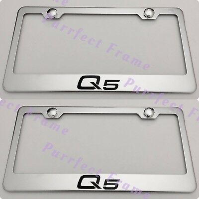 QUATTRO AUDI STAINLESS Steel License Plate Frame Rust Free W/ Bolt ...
