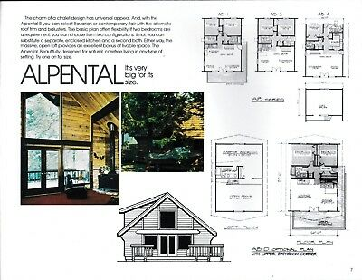 Ceder Pre-Cut Homes Catalog from The Justus Company 1970's Modern Chalet/Lodge