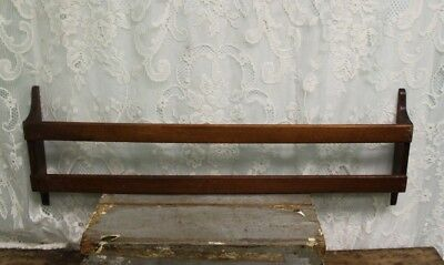 Salvaged Antique Walnut Church Pew Hymnal Bible Holder Rack Re-purpose Project