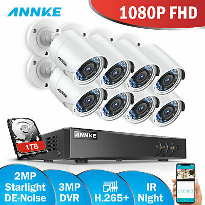 ANNKE 3MP 5IN1 H.264+ 8CH DVR 2MP IR CCTV Security Camera System Smart Playback