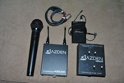 Azden 400UDR true diversity UHF wireless camera system