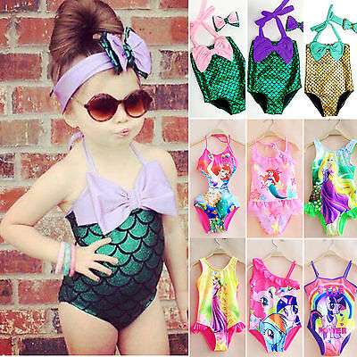 Girls Kids One-Piece Swimsuit Swimwear Monokini Bikini Bathing Beachwear Costume