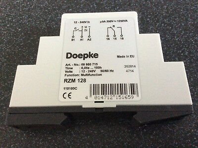 Doepke Multifunction Time Relay, 1C/O, 8A, 12~240V AC/DC