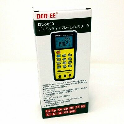 DER EE DE-5000 High Accuracy Handheld LCR Meter ONLY Metar New F/S
