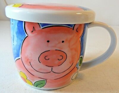 Pig Porcelain Tea Brewing Mug Gallery By Inhesions Oink Oink Flowers