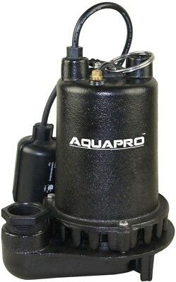 Sump Pump Submersible 3/4 HP Cast Iron Tethered Float Suction Debris Flood Drain
