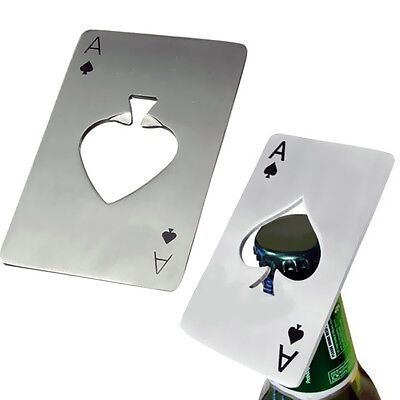1pcs Metal Outdoor Poker Playing Cards Throwing Toys Creative Bottle Opener Top