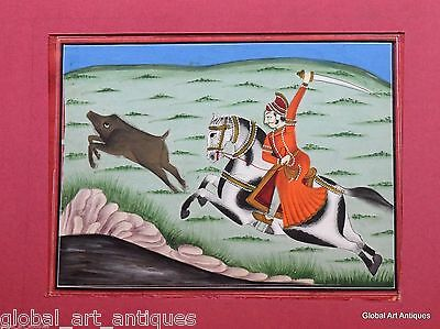 Rare Hand Painted Fine Decorative Collectible Indian Miniature Painting. G77-5