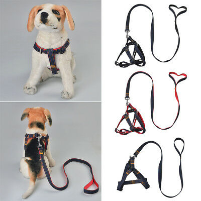 Pet Adjustable Dog Puppy Cat Kitten Rabbit Nylon Harness Collar Leash Lead R4I
