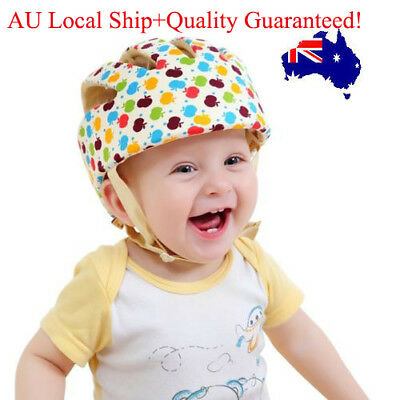 Infant Baby Toddler Safety Helmet Soft Cotton Crawling Headguard Harnesses Cap