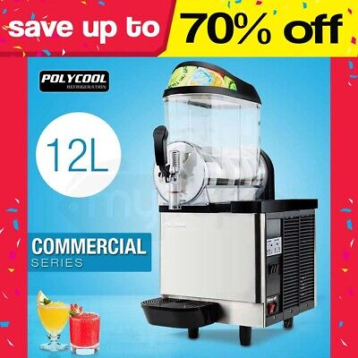 POLYCOOL 12L Commercial Slushie Machine Granita Slurpee Slushy Juice Slush Maker