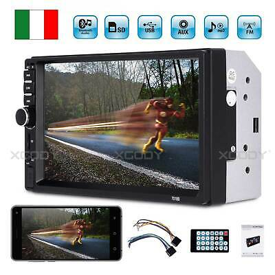 "7"" Bluetooth Autoradio 2 DIN Touch Screen Stereo MP5 MP3 Media Player USB FM IT"