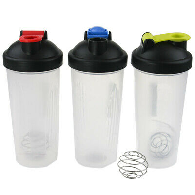 24 x 600ml Gym Protein Shaker Supplement Drink Blender Mixer Shaker Bottle Cup