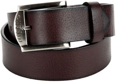 High Quality Gents Men's Metal Loop Milano Genuine Leather Buckle Belt Multi
