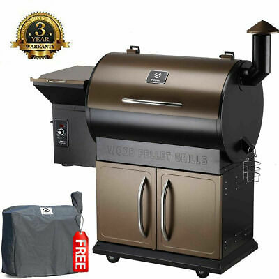 700SQ in Wood Pellet Smoker BBQ Grill Cover w/Digital Controls Outdoor Cooking