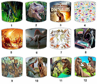 Dinosaurs Lampshades, Ideal To Match Children`s Dinosaur Wall Decals & Stickers.