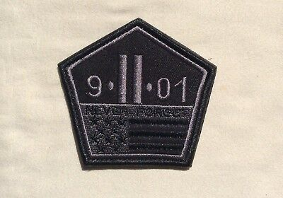 9-11 Never Forget Patch Twin Towers Pentagon Shape 911 Morale September 11 2001