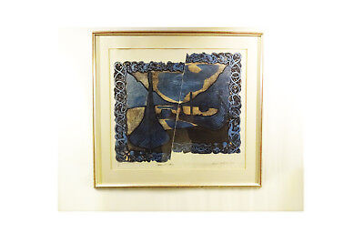 Large Mid Century David Dickinson embossed etching