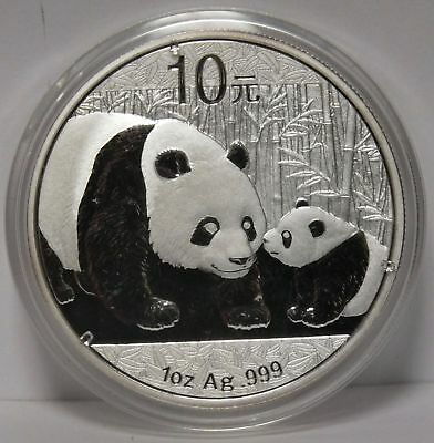2011 China Chinese Panda 1 Oz .999 Silver 10 Yuan Coin