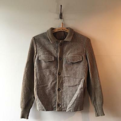True Vintage 1960s German Tweed Check Lambswool Bomber Jacket S