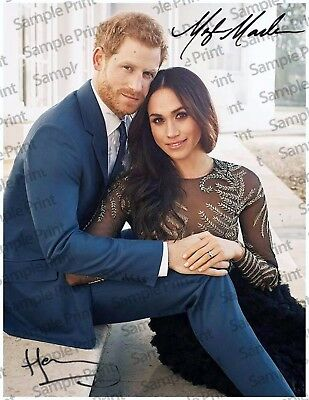 REPRINT 8.5x11 Signed Photo: Prince Harry & Meghan Markle Engagement Photo