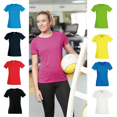 Womens Quick Dry Running Gym Performance Sports T Shirt | 9 COLOURS | S - 2XL