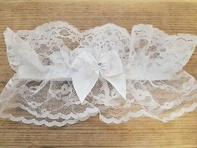 Brides Lacy Traditional Wedding / Hen Party Garter