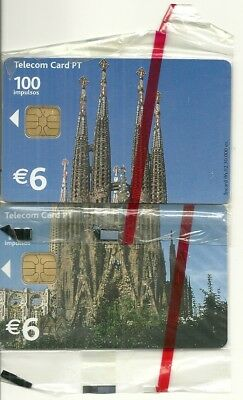 Rare / 2 Cartes Telephoniques - Sagrada Familia Barcelona Espana / 2 Phonecards
