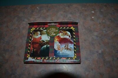 NEW Coca Cola 1997 Santa Collector Tin & 2 Decks of Playing Cards