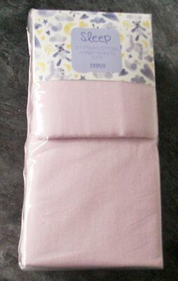 Ex store pair of pink 100% jersey cotton fitted cot sheets New in packet