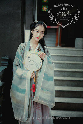 Hanfu Ancient Costume Dance Show Chinese Tradition Tang Dynasty Dress One Set