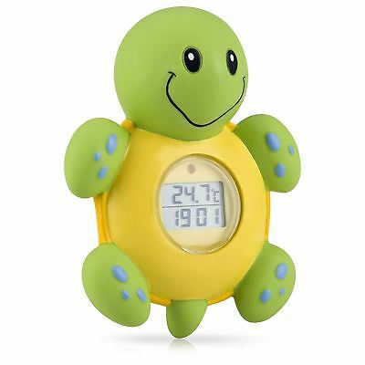 Nuby Turtle Bathtime Clock, Timer & Thermometer Baby 3-in-1 - Floats, LCD Screen