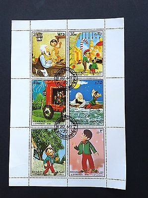 Sharjah 1972 Disney, Pinocchio Miniature Sheet !!