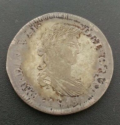 Zacatecas 8 Reales 1819-AG War Of Independence Vf-XF Pedigreed To Coin Galleries
