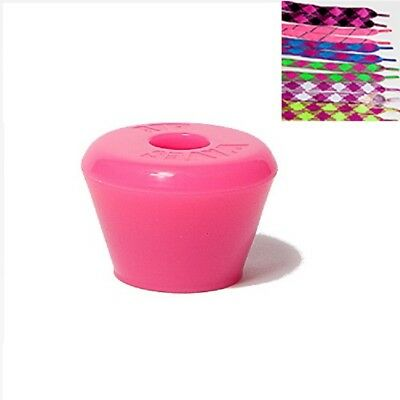 Roller Skate Toe Stops Stoppers Pair With Laces Solid Pink