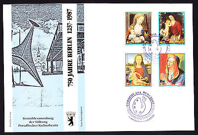 Paraguay 1988 First Day Cover 750 Jahre Berlin German Religious painting stamps