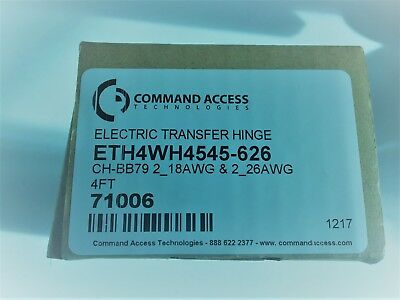 Command Access Electric Transfer Hinge (ETH4W4545-626) Brand New Never Used