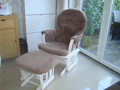 Dutialiergliding chair and footstool
