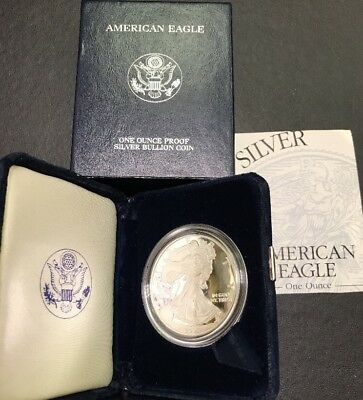 2003 W Proof Silver American Eagle Dollar US Mint Coin 999 OMP/COA