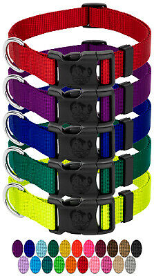 10 - Country Brook Design® Vibrant 23 Color Selection | Deluxe Nylon Dog Collar