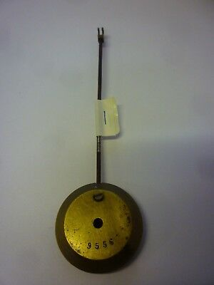 Original Antique French Movement Brass Pendulum (1)