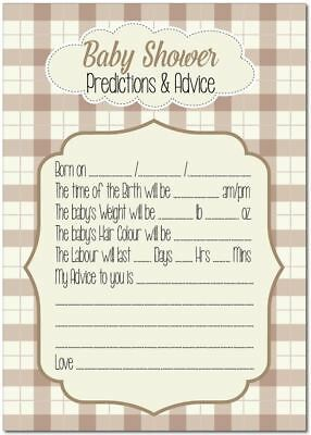 16 Baby Shower Games Predictions Advice Unisex Check party favours