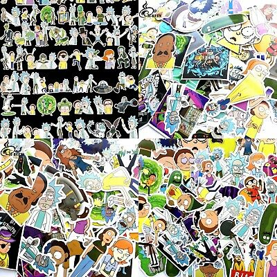 rick and morty stickers 100 pcs selected at random. Uk delivery fast