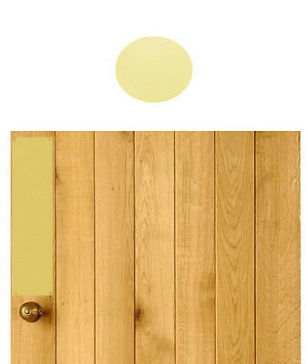 Polished Solid Brass Push Plate Drilled & Csk With Screws Imperial Sizes