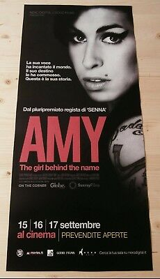 AMY THE GIRL BEHIND THE NAME  Locandina Cinema 33x70 Poster Film Originale
