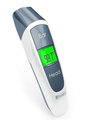 New IProven Dual Clinical Digital Thermometer Ear Forehead Accuracy Baby Kid