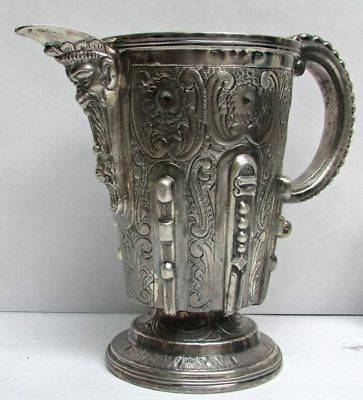 Spain Madrid Sterling Silver Old Wine Pitcher