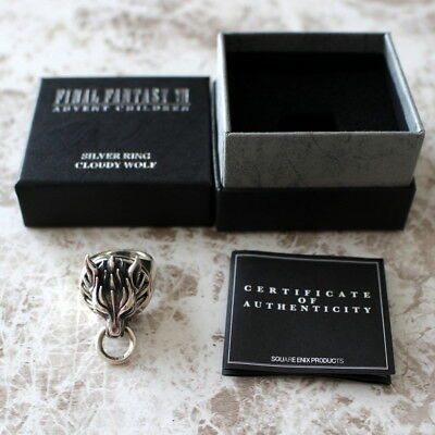 Final Fantasy VII Silver Ring Cloudy Wolf Cloud Japan SQUARE ENIX Official US7.5